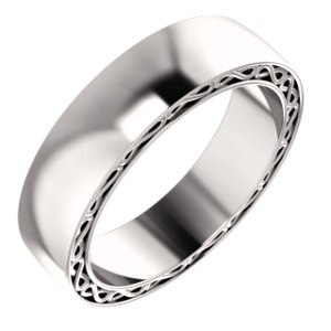 14K White 6 mm Infinity-Inspired Band Size 10