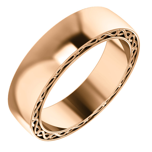 14K Rose 6 mm Infinity-Inspired Band Size 10