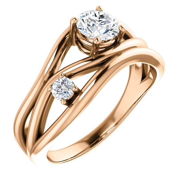 14K Rose 3/4 CTW Lab-Grown Diamond Ring
