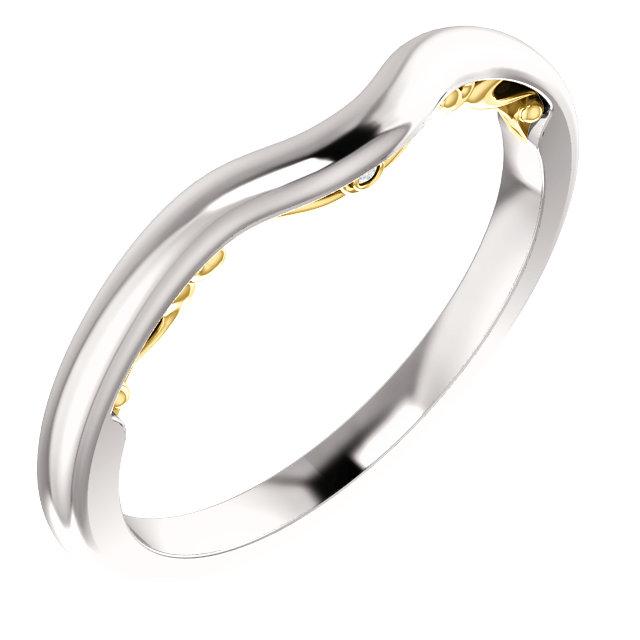 14K White & Yellow .005 CTW Diamond Band