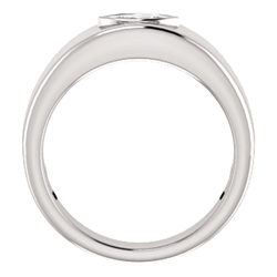 Men's Bezel Set Ring