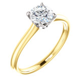 Lab-Grown & Natural Diamond Accented Solitaire Engagement Ring