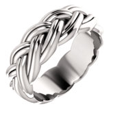 Sculptural-Inspired Relief Pattern Band