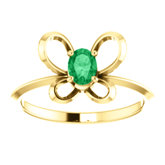 Youth Butterfly Birthstone Ring