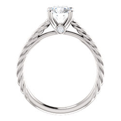 Solitaire Engagement Ring with Accent