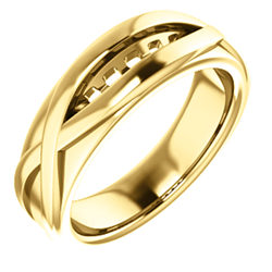 Men's Five-Stone Channel-Set Ring
