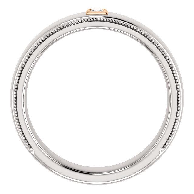 14K White & Rose .05 CTW Men-s Diamond Ring