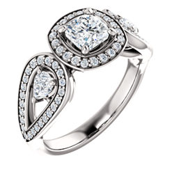 Halo-Style Accented Ring
