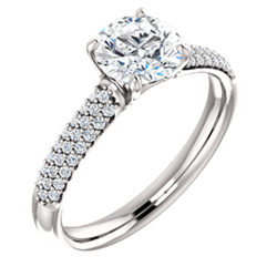 Pavé Accented Engagement Ring