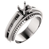 Channel Set Engagement Ring or Band