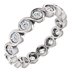 Bezel Set Eternity Band