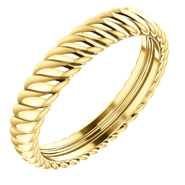 14K Yellow 3.5 mm Rope Band Size 6