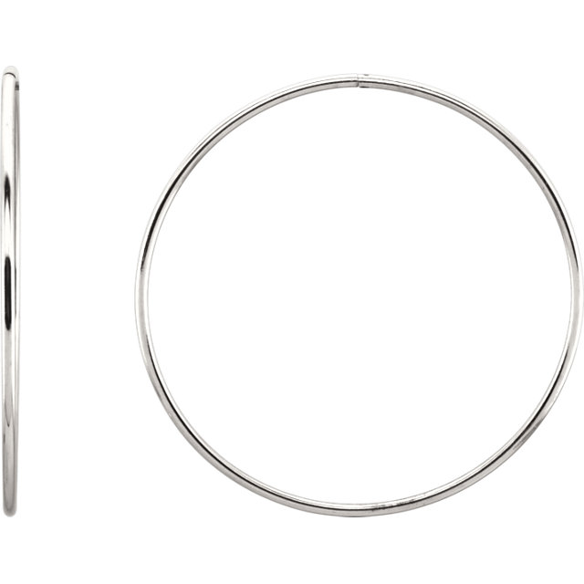 Sterling Silver 60 mm Endless Hoop Tube Earrings