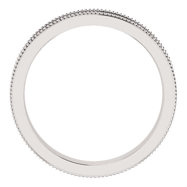 14K White 3.65 mm Floral-Inspired Band Size 7