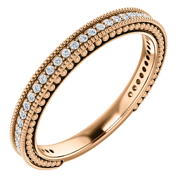 14K Rose 1/5 CTW Diamond Anniversary Band