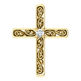 Solitaire Cross Pendant