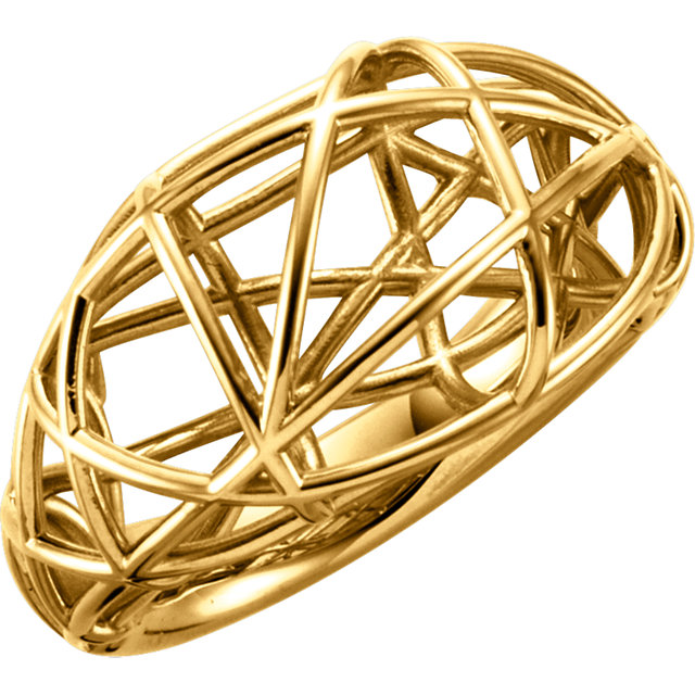 14K Yellow Nest Design Ring