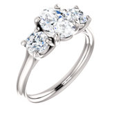 Charles & Colvard Moissanite® Three-Stone Engagement Ring