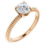 Solitaire Engagement Ring or Band