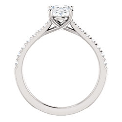 French-Set Engagement Ring