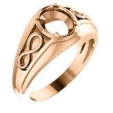 Infinity-Inspired Men's Ring