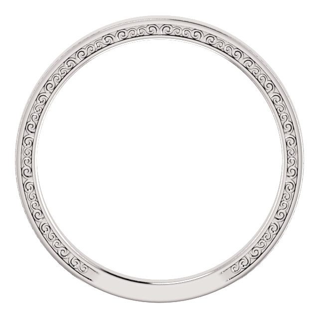 14K White Sculptural-Inspired Band