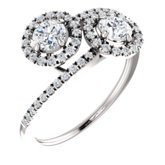 Two-Stone Halo-Style Engagement Ring or Band