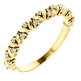 Accented Stackable Leaf Ring