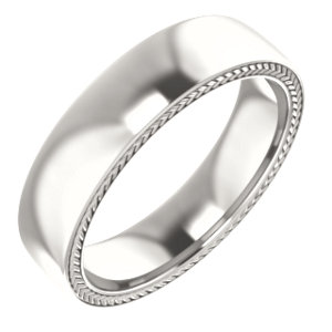 Sterling Silver 6 mm Wheat Pattern Band Size 10