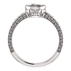 Bezel Set Engagement Ring