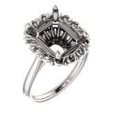 Sculptural Solitaire Engagement Ring