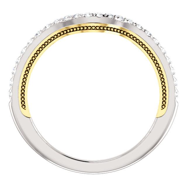 14K White & Yellow 1/5 CTW Diamond Band