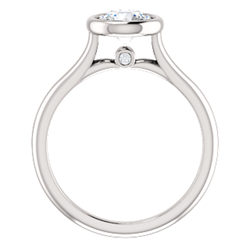 Solitaire Bezel Set Engagement Ring