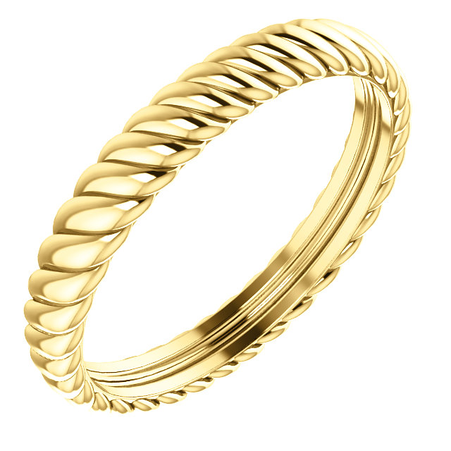 14K Yellow 3.75 mm Thick Rope Band Size 11