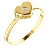 Solitaire Heart Youth Ring