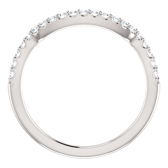 14K White 1/4 CTW Diamond Band for 5.8 mm Round Ring