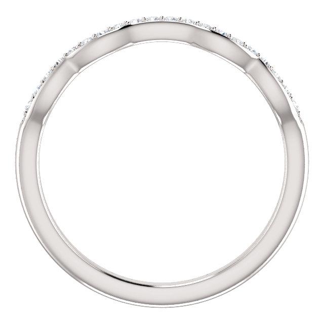 14K White 1/10 CTW Matching Diamond Band