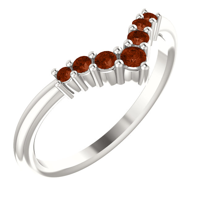Sterling Silver Mozambique Garnet Graduated