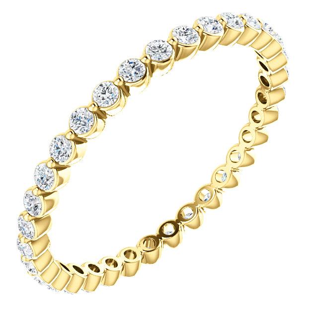 14K Yellow 1/2 CTW Diamond Eternity Band Size 5