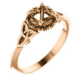 Celtic-Inspired Halo-Style Engagement Ring