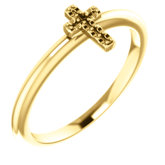 Accented Stackable Cross Ring