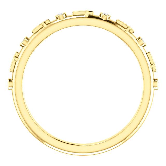 14K Yellow .03 CTW Diamond Cross Ring