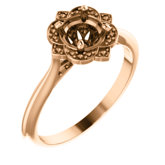 Vintage-Inspired Halo-Style Engagement Ring or Band