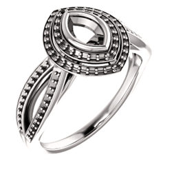 Double Halo-Style Bezel-Set Ring