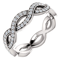 Infinity-Inspired Eternity Band