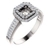 Double Halo-Style Engagement Ring or Band