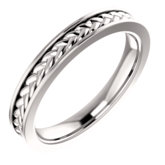 Woven Design Wedding Band