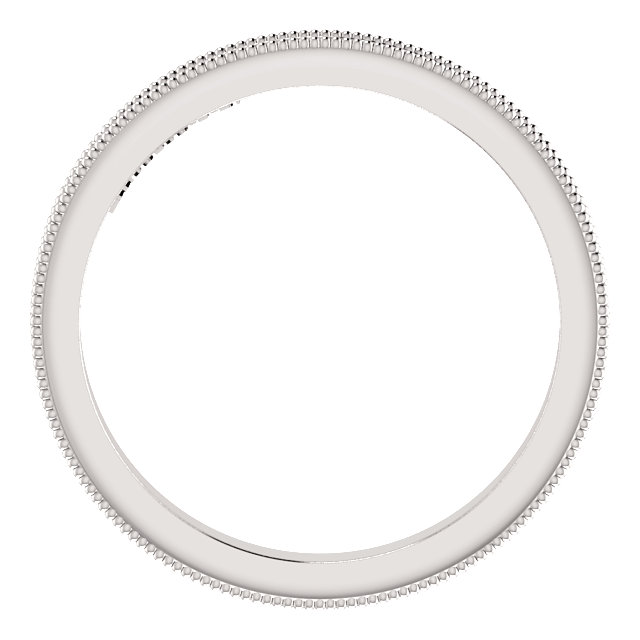 14K White 2.5mm Sculptural-Inspired Band Size 7
