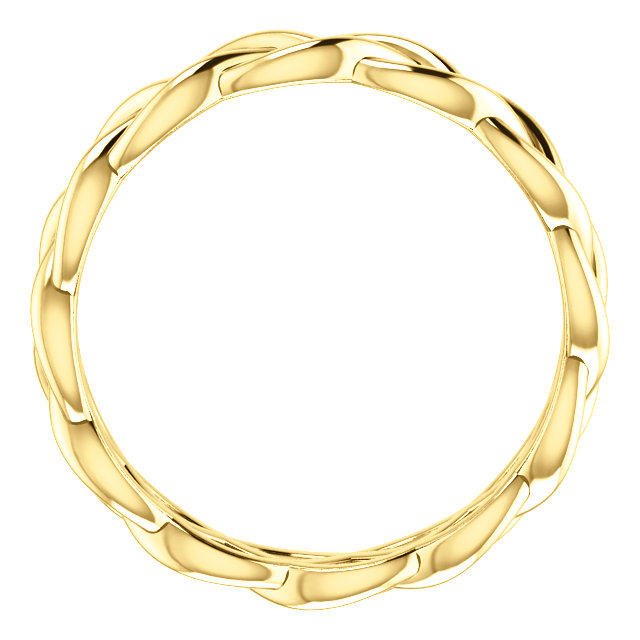 14K Yellow 4.7 mm Woven-Design Band Size 6.5