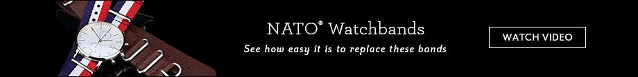 NATO Watchbands - See how easy it is to replace these bands | Watch Video